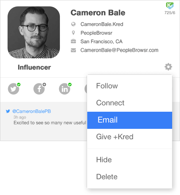 Explore your Contacts