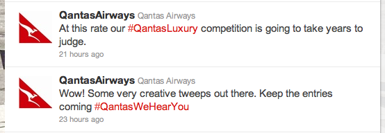 QantasLuxury Tweets