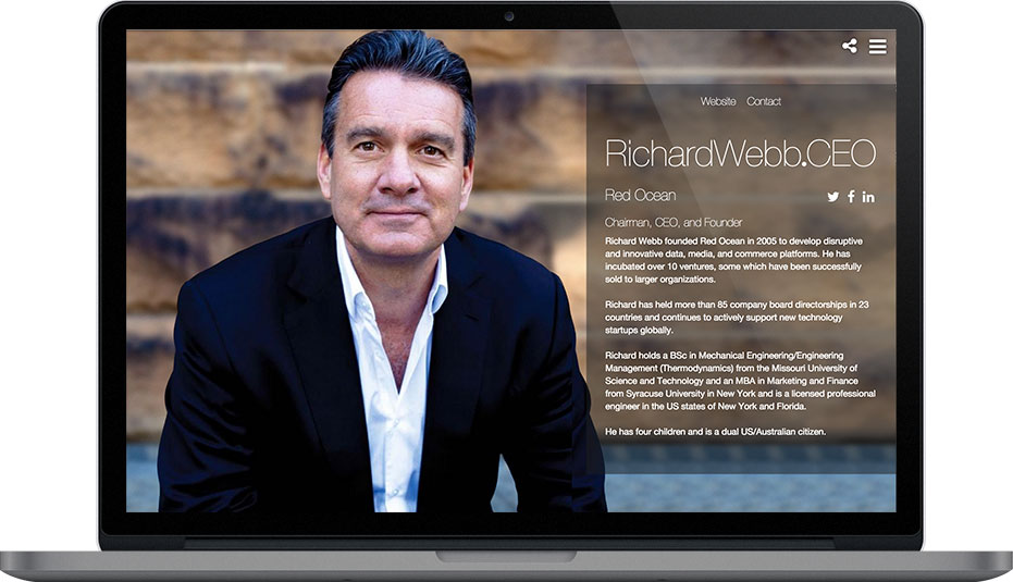 Richard Webb CEO and .CEO Member
