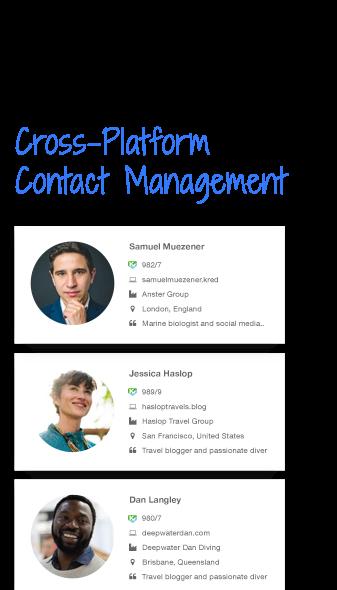Cross-Platform Contact Management