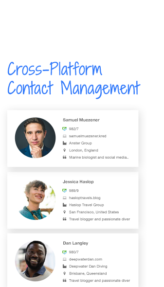 Cross-Platform Contact Management